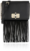 Diane von Furstenberg 440 Gallery Bellini fringed leather and suede shoulder bag