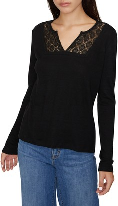 Sanctuary Lora Crochet Lace Neck T-Shirt