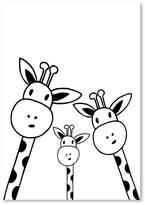 Americanflat Giraffe Friends Print Art, Print Only