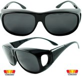 Sunglass Stop Shop Sunglass Stop - Extra Round Polarized Fit Over Sunglasses for Readers