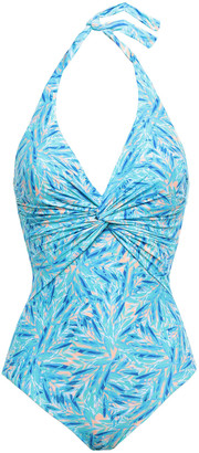 Melissa Odabash Zanzibar Twist-front Halterneck Swimsuit