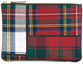 Comme des Garcons tartan patchwork clutch - unisex - Polyurethane/Wool - One Size