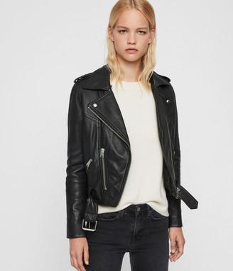 AllSaints Rigby Lux Leather Biker Jacket