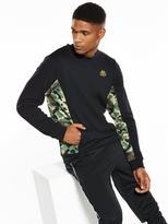Kappa Ross Camo Panel Sweatshirt