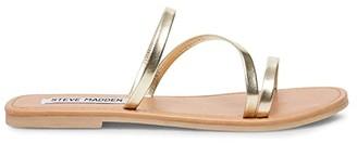 Steve Madden Invest Flat Sandal (White) Women's Shoes