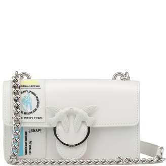 Pinko Mini Love Rubber Shoulder Bag