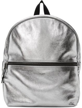 Saint Laurent Silver Nuxx Backpack
