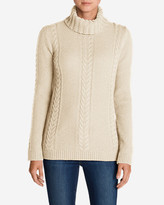 Eddie Bauer Women's Cable Fable Turtleneck Sweater