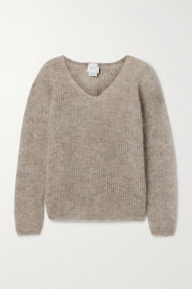 Max Mara Leisure Ribbed Mohair-blend Sweater - Tan