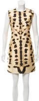 Kaufman Franco Kaufmanfranco Wool & Silk-Blend Cheetah Print Dress