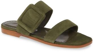 Manolo Blahnik Tituba Buckle Slide Sandal