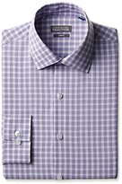 Kenneth Cole Reaction Men's Slim Fit Graphic Check Dress Shirt