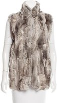 Adrienne Landau Rabbit Fur Vest w/ Tags