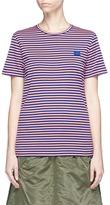 Acne Studios 'Napa Face' stripe T-shirt