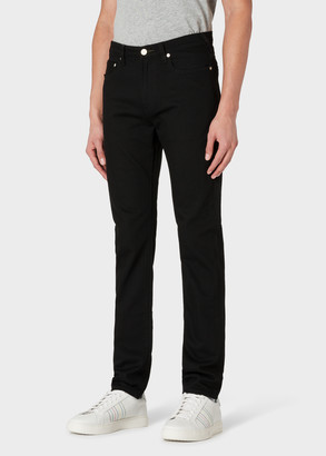 Paul Smith Men's Slim-Fit 12oz 'Black Stretch' Denim Jeans