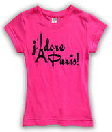 Urban Smalls Fuchsia 'J'Adore Paris' Fitted Tee - Toddler & Girls