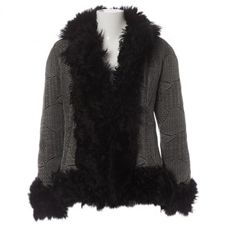 Christian Dior Black Shearling Coat for Women