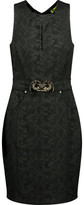 Versace Embellished Jacquard Mini Dress