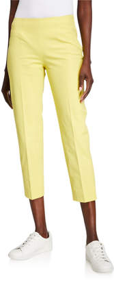 Piazza Sempione Audrey Stretch Cotton Crop Pants, Yellow