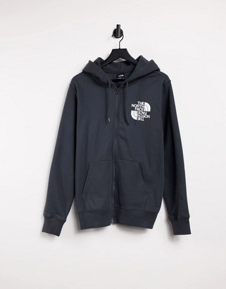 The North Face Double Dome full zip hoodie in gray