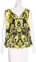 Jean Paul Gaultier Soleil Sleeveless Floral Print Top
