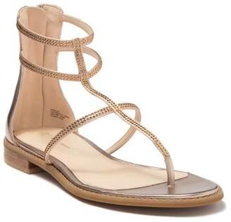 Pelle Moda Bangle Embellished Gladiator Sandal