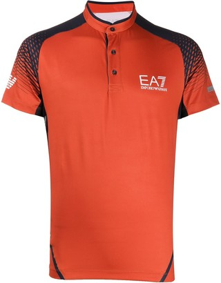 Ea7 Emporio Armani Band Collar Polo Shirt