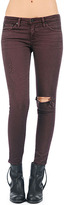 AG Jeans The Legging Ankle - Destroyed Plum