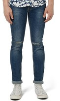 Topman Ripped Stretch Slim Fit Jeans