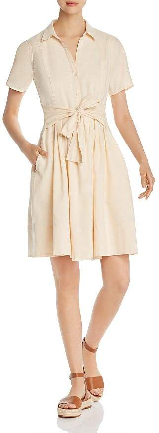 Donna Karan Short-Sleeve Tie-Front Dress