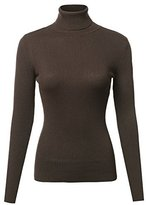 Made by Emma Basic Lightweight Ribbed Turtleneck Sweater Charcoal S