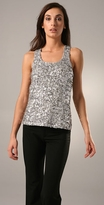 Sequined Racer Back Top