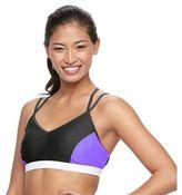 Free Country Women's Colorblock Crisscross Bikini Top