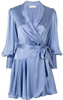 Zimmermann Tie Waist Silk Dress
