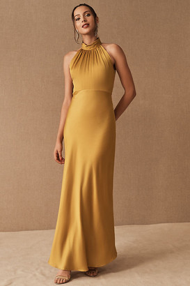 BHLDN Cortland Dress By in Yellow Size 14