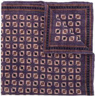 Brunello Cucinelli Geometric-Print Square Scarf