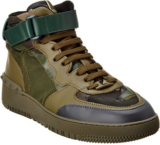 Valentino Leather High-Top Sneaker