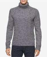 Calvin Klein Men's Multi-Textured Turtleneck Sweater