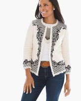 Chico's Novelty Embroidered Jacket