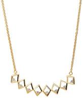 Rachael Ryen - Diamond Bar Necklace Gold