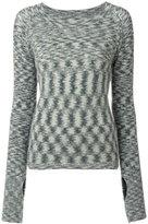 Humanoid round neck sweater