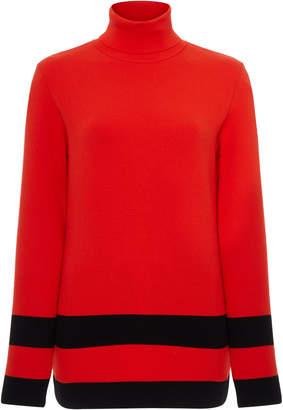 Fusalp Striped Knit Turtleneck Sweater