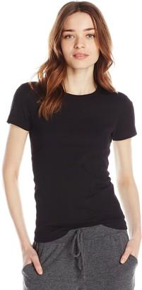 Three Dots Women's Short Sleeve Crewneck Tee