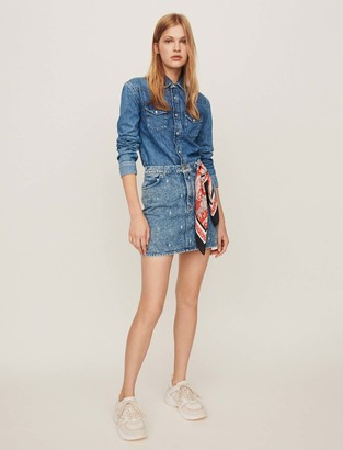 Maje Faded jean dress