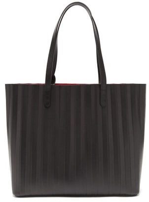 Mansur Gavriel Pleated Leather Tote Bag - Black Multi