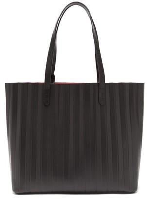 Mansur Gavriel Pleated Leather Tote Bag - Womens - Black Multi
