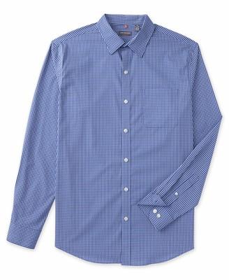 Van Heusen Men's Big and Tall Traveler Non Iron Stretch Long Sleeve Shirt Blue Mazarine 4X-Large Tall