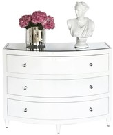 The Well Appointed House Worlds Away Natalie Three Drawer Chest in White  Lacquer