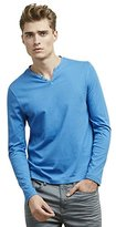 Kenneth Cole Reaction Men's Long-Sleeve Solid Henley Shirt