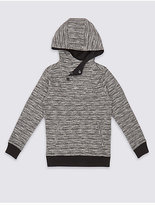 Marks and Spencer Hooded Texture Sweatshirt (3-14 Years)